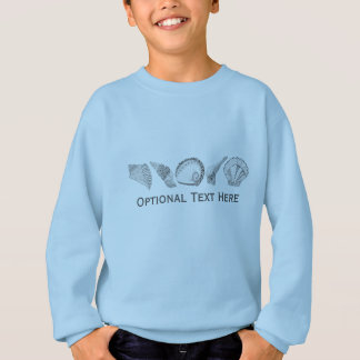 Any Color Hand Drawn Seashells Sweatshirt