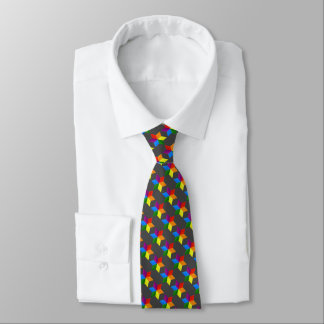 Any Color Multi Colored Star of David Pattern Tie