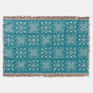 Any Color Retro Arts and Crafts Movement Pattern Throw Blanket