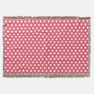 Any Color Retro Polka Dots Pattern Throw Blanket