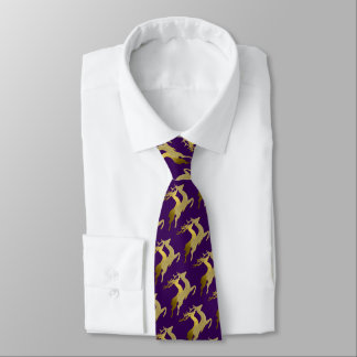 Any Color Two Gold Reindeer Holiday Tie