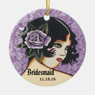 Any Color Wedding Bridesmaid Christmas Ornament