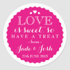 ANY COLOR Wedding Favour Sweet Jar Round Classic Round Sticker