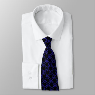 Any Color with Blue Menorah Pattern Tie