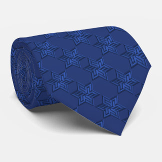 Any Color with Blue Star of David Pattern Tie