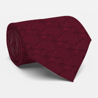 Any Color with Burgundy Red Star of David Pattern Tie