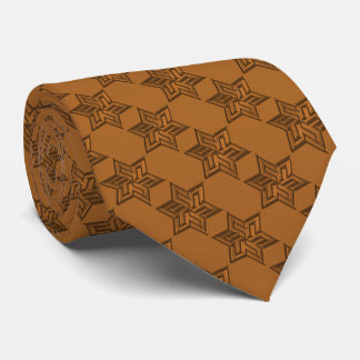 Any Color with Burnt Orange Star of David Pattern Tie