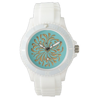 Any Color with Gold Abstract Design Watches