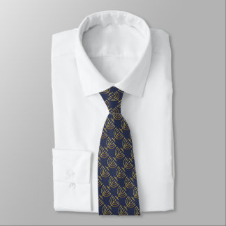 Any Color with Gold Menorah Pattern Tie