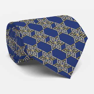 Any Color with Gold Star of David Pattern Tie