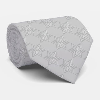 Any Color with Gray Star of David Pattern Tie
