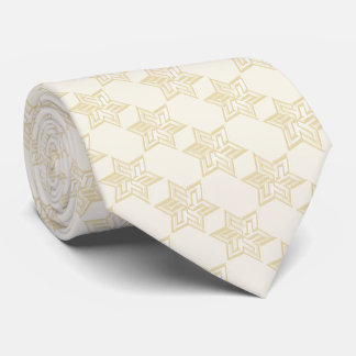 Any Color with Ivory Star of David Pattern Tie