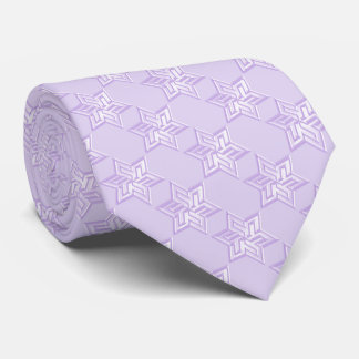 Any Color with Lavender Star of David Pattern Tie