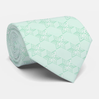 Any Color with Mint Green Star of David Pattern Tie