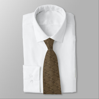 Any Color with Mocha Brown Star of David Pattern Tie