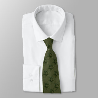 Any Color with Moss Green Star of David Pattern Tie
