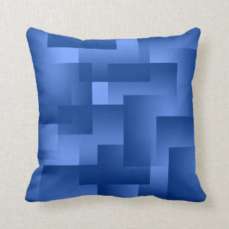 Any Color with Navy Blue Gradient Blocks Cushion