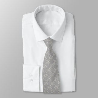Any Color with Silver Menorah Pattern Tie