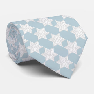 Any Color with White Star of David Pattern Tie