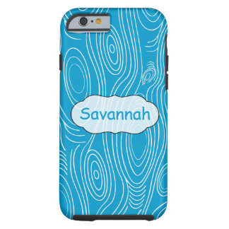 Any Color Woodgrain Pattern Personalized iPhone Tough iPhone 6 Case