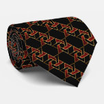 Any Colour Black and Red Star of David Pattern Tie