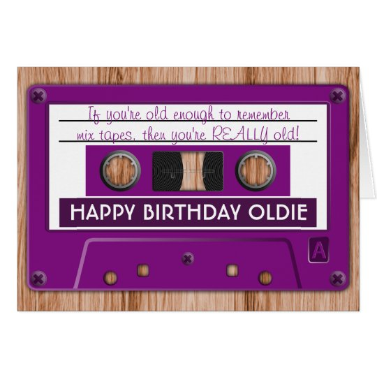 Any Colour Retro Music Cassette Tape Birthday Card