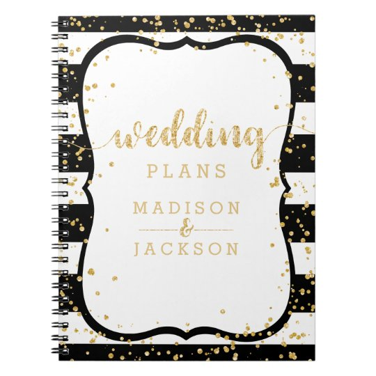 Any Colour Stripes & Gold Confetti Wedding Planner