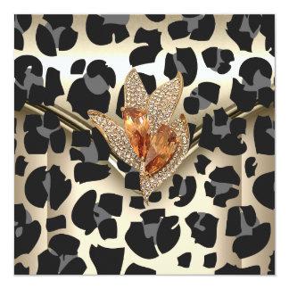Any Event Elegant Animal Caramel Cream Black Gold Card