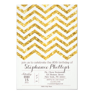 ANY EVENT - Gold Blush Glitter Invitation