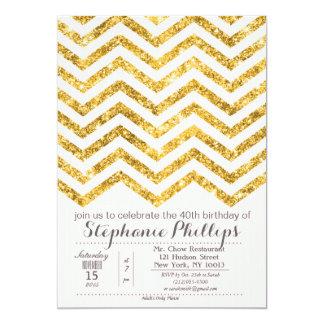 ANY EVENT - Gold Blush Glitter Invitation