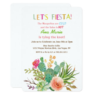 ANY EVENT - Let's Fiesta Floral Invitation