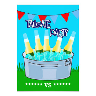 Any Event Tailgate Party Customizable 5x7 Paper Invitation Card