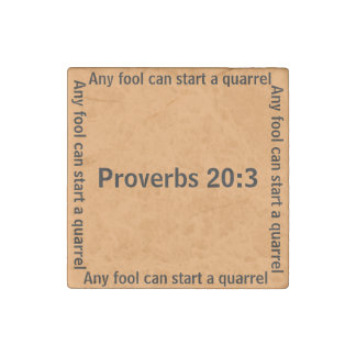 Any fool can start a quarrel (Proverb 20:3) Magnet Stone Magnet