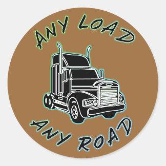 Any Load Any Road Classic Round Sticker