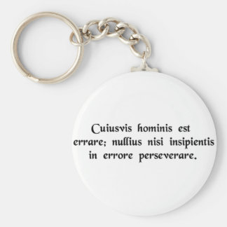 Any man can make a mistake; only a fool keeps.... basic round button key ring