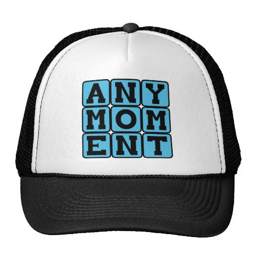 Any Moment, Pregnancy Announcement (Boy) Hats