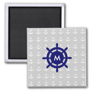 Any Monogram Nautical Anchor Magnet