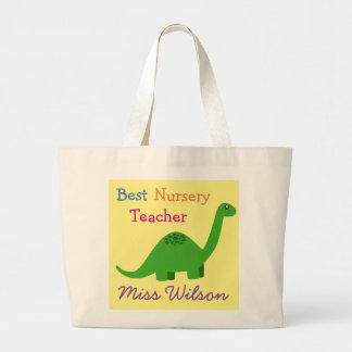 (Any name) Best Nursery Teacher's Tote Bag