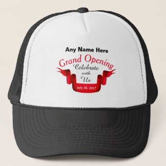 Any Name & Date Grand Opening - Trucker Hat