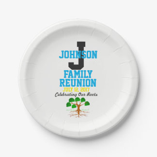 Any Name Family Reunion with Any Date - 7 Inch Paper Plate