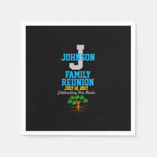 Any Name Family Reunion with Any Date - Disposable Napkins