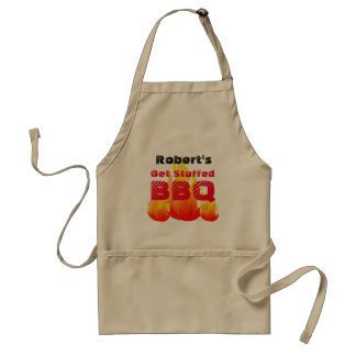 Any Name Get Stuffed - BBQ - Standard Apron