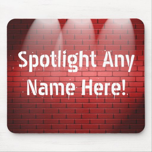 Any Name In Spotlights Mouse Pads