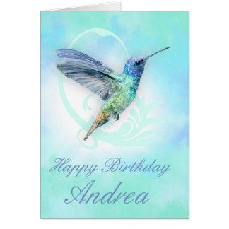 Any Occasion Custom Hummingbird Greeting Card