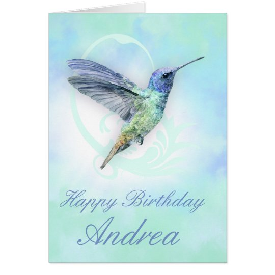 Any Occasion Custom Hummingbird Greeting Card