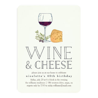 wine and cheese party invitations & announcements | zazzle.co.uk, Party invitations