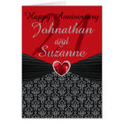 ANY # Personalised Happy Anniversary Greeting Card