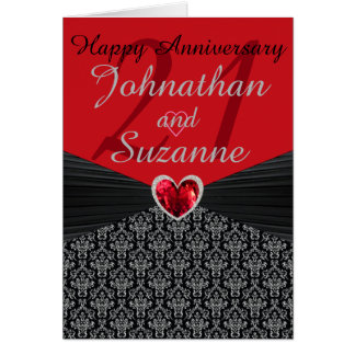 ANY # Personalized Happy Anniversary Greeting Card