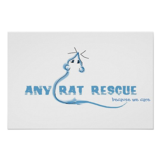 Any Rat Rescue - Blue Logo Poster