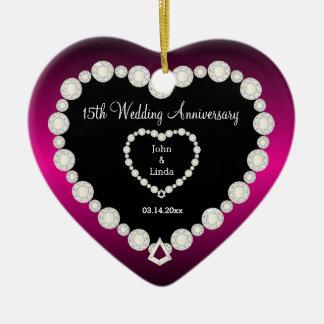 Any Wedding Anniversary | DIY Text Ceramic Heart Decoration
